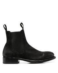 schwarze Chelsea Boots aus Wildleder von Officine Creative