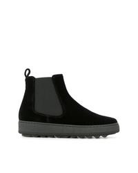 schwarze Chelsea Boots aus Wildleder von Philippe Model