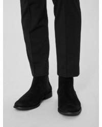 schwarze Chelsea-Stiefel aus Wildleder von Selected Homme