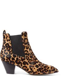 schwarze Chelsea Boots mit Leopardenmuster von Marc Jacobs