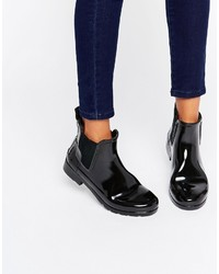 schwarze Chelsea-Stiefel von Hunter