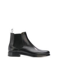 schwarze Chelsea-Stiefel aus Leder von A.P.C.