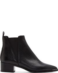 schwarze Chelsea-Stiefel aus Leder von Acne Studios