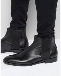 schwarze Chelsea-Stiefel aus Leder von Aldo