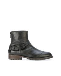 schwarze Chelsea-Stiefel aus Leder von Belstaff