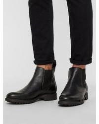 schwarze Chelsea-Stiefel aus Leder von Bianco