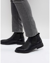 schwarze Chelsea-Stiefel aus Leder von Brave Soul
