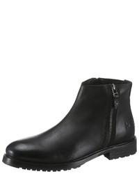 schwarze Chelsea-Stiefel aus Leder von BRUNO BANANI