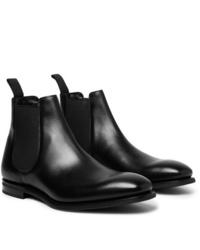 schwarze Chelsea-Stiefel aus Leder von Church's