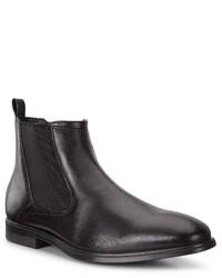 schwarze Chelsea-Stiefel aus Leder von Ecco