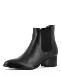 schwarze Chelsea-Stiefel aus Leder von Evita