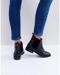 schwarze Chelsea-Stiefel aus Leder von Faith