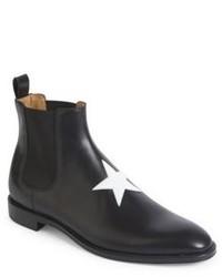 Schwarze Chelsea-Stiefel aus Leder von Givenchy