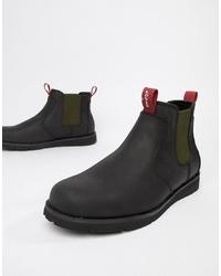 schwarze Chelsea-Stiefel aus Leder von Levi's