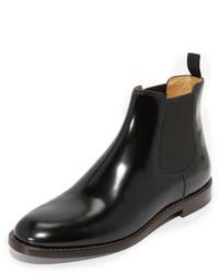 schwarze Chelsea-Stiefel aus Leder von Marc Jacobs