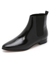 schwarze Chelsea-Stiefel aus Leder von Michael Kors