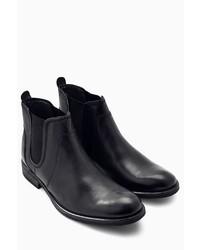 schwarze Chelsea-Stiefel aus Leder von next