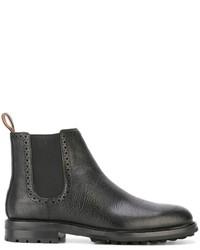Schwarze Chelsea-Stiefel aus Leder von Polo Ralph Lauren