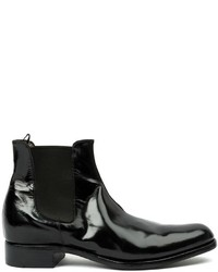 Schwarze Chelsea-Stiefel aus Leder von Premiata