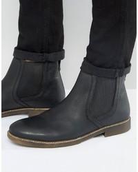 Schwarze Chelsea-Stiefel aus Leder von Red Tape