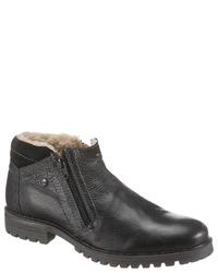 schwarze Chelsea-Stiefel aus Leder von Salamander