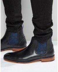 Schwarze Chelsea-Stiefel aus Leder von Ted Baker