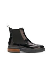 schwarze Chelsea-Stiefel aus Leder von Tod's