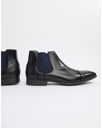 schwarze Chelsea-Stiefel aus Leder von Truffle Collection