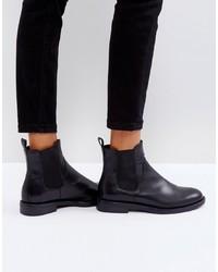 schwarze Chelsea-Stiefel aus Leder von Vagabond