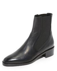 schwarze Chelsea-Stiefel aus Leder von Vince