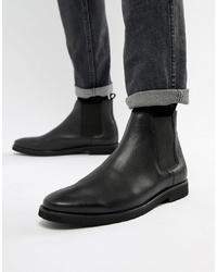 schwarze Chelsea-Stiefel aus Leder von WALK LONDON