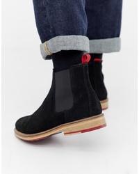 schwarze Chelsea-Stiefel aus Wildleder von ASOS DESIGN