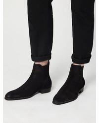 schwarze Chelsea-Stiefel aus Wildleder von Bianco