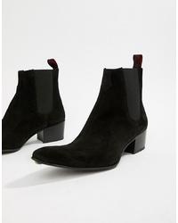 schwarze Chelsea-Stiefel aus Wildleder von Jeffery West