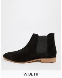 schwarze Chelsea-Stiefel aus Wildleder von Kg Kurt Geiger