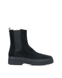 schwarze Chelsea-Stiefel aus Wildleder von Tod's