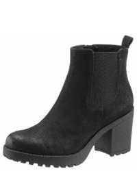schwarze Chelsea-Stiefel aus Wildleder von Vagabond