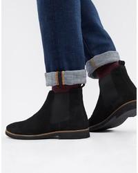 schwarze Chelsea-Stiefel aus Wildleder von WALK LONDON