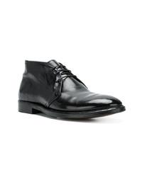 schwarze Chukka-Stiefel aus Leder von Alberto Fasciani
