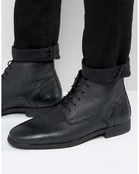Schwarze Chukka-Stiefel aus Leder von Asos