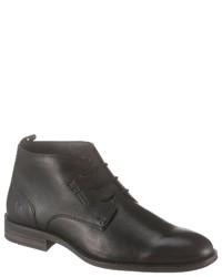 schwarze Chukka-Stiefel aus Leder von BRUNO BANANI