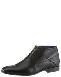 schwarze Chukka-Stiefel aus Leder von Bugatti