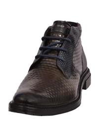 schwarze Chukka-Stiefel aus Leder von Daniel Hechter