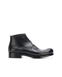 schwarze Chukka-Stiefel aus Leder von Dimissianos & Miller