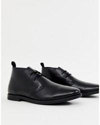 schwarze Chukka-Stiefel aus Leder von Kg Kurt Geiger