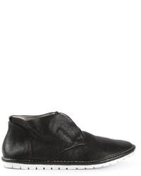 schwarze Chukka-Stiefel aus Leder von Marsèll