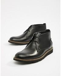 schwarze Chukka-Stiefel aus Leder von Original Penguin