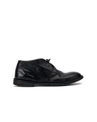 schwarze Chukka-Stiefel aus Leder von Premiata