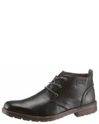 schwarze Chukka-Stiefel aus Leder von Rieker
