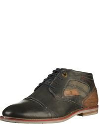 schwarze Chukka-Stiefel aus Leder von Tom Tailor